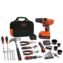 Black+Decker 20V MAX Lithium Ion Drill/Driver + 68-Piece Project Kit