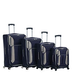 Rockland 4-Piece Impact Spinner Luggage Set