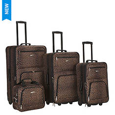 Rockland 4-Piece Design Luggage Set - Opened Item
