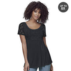 Lace Sleeve Empire Top