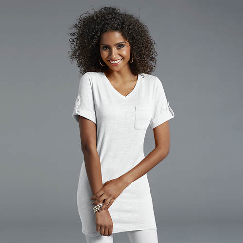 Women's Rolled-Sleeve Tunic