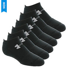 Under Armour Kids 6-Pack Charged Cotton 2.0 No Show Socks