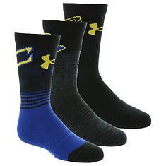 Under Armour Boys' 3-Pack Phenom Curry Crew Socks