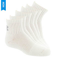 Under Armour Kids 6-Pack Charged Cotton 2.0 Quarter Socks