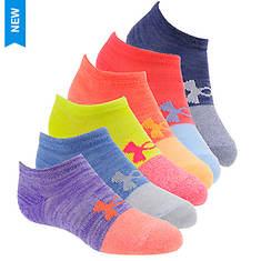 Under Armour Girls' 6-Pack Essential Twist No Show Socks