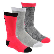 Under Armour Girls 3-Pack Next Statement 3.0 Crew Socks