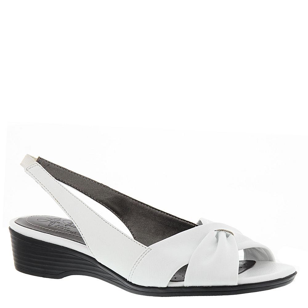 1950s Style Shoes | Heels, Flats, Boots Life Stride Mimosa II Womens White Sandal 5.5 M $49.95 AT vintagedancer.com