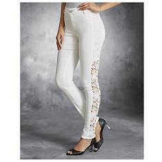 Side Lace Skinny Jeans
