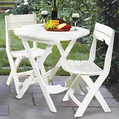 Quick Fold Cafe Set - White
