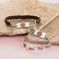 Personalized Medical ID Bracelet - Leather