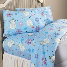 Cotton Flannel Sheets - Snowmen