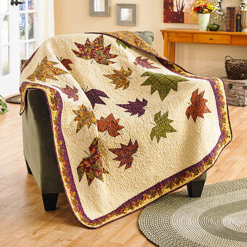 September Dance Quilted Throw