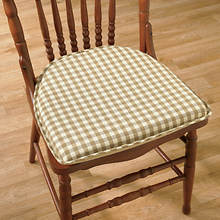 Gingham Chair Pad - Natural