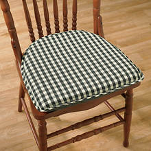 Gingham Chair Pad - Black