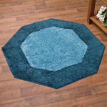 Frisse Rug - 4' Octagon-Midnight Blue
