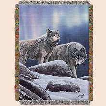 Animal Print Tapestry Throw - Wolf