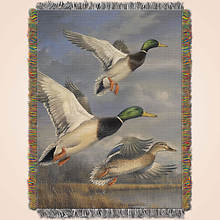 Animal Print Tapestry Throw - Duck
