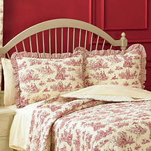 Toile Sham - Red