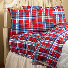 Flannel BedTite™ Sheets - Sherlock Plaid