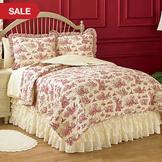 Toile Quilt - Red