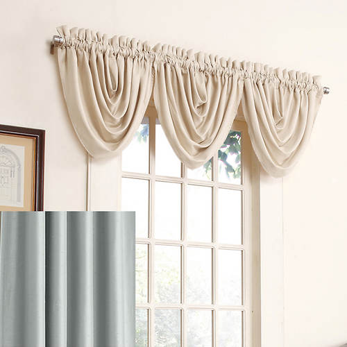 Sub Zero Antique Satin  Drapery Waterfall Valance