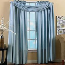 Hampton Window Panels - Dusty Blue