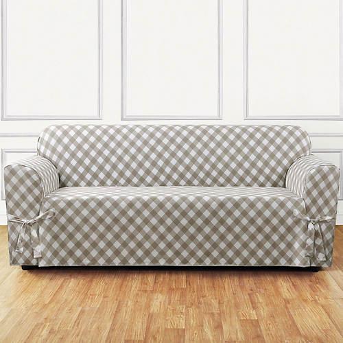 Buffalo Check Slipcover - Sofa
