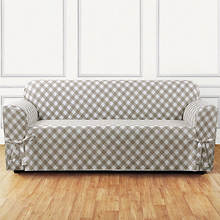 Buffalo Check Slipcover - Sofa - Tan