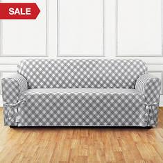 Buffalo Check Slipcover - Sofa - Grey