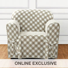 Buffalo Check Slipcover - Chair - Tan
