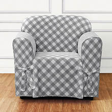 Buffalo Check Slipcover - Chair - Grey