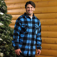 Mens Plaid Shirt - Blue