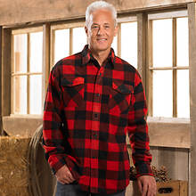 Mens Plaid Shirt - Red