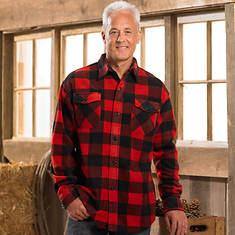 Mens Plaid Shirt - Red