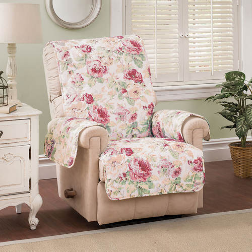 English Floral Furniture Protector - Recliner