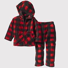 Toddler Plaid Fleece Set - Red