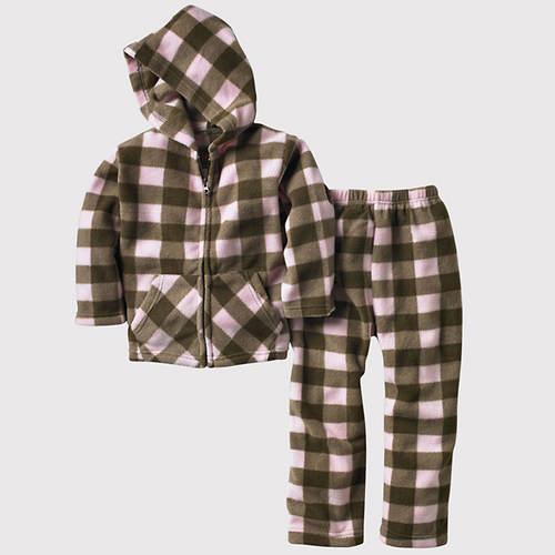 Toddler Plaid Fleece Set