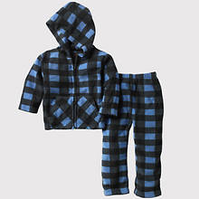 Toddler Plaid Fleece Set - Blue