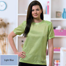Silk Blouse - Light Blue