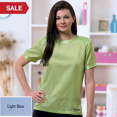 Silk Blouse - Light Blue