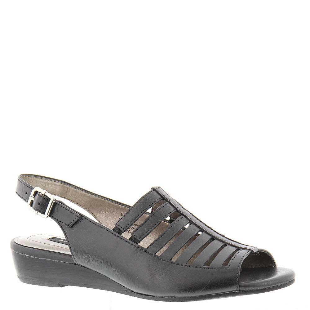 1940s Style Shoes, 40s Shoes ARRAY Iris Womens Black Sandal 12 W $79.95 AT vintagedancer.com