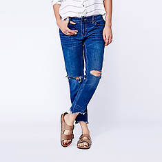 Free People Women's Century Denim WW Mid-Rise Skinny Destroyed Ankle Jean