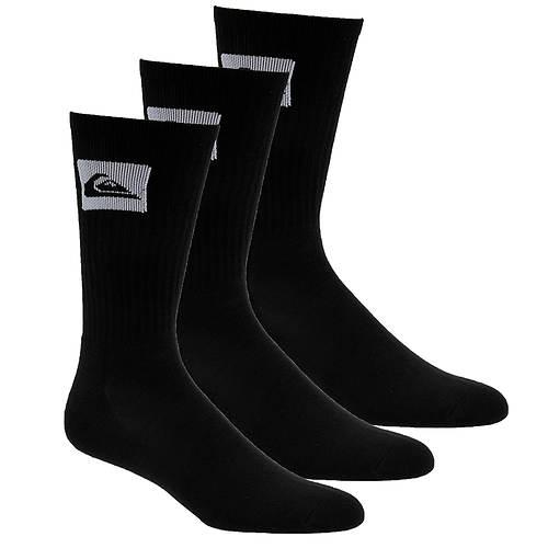 Quiksilver Men's 3-Pack Crew Socks
