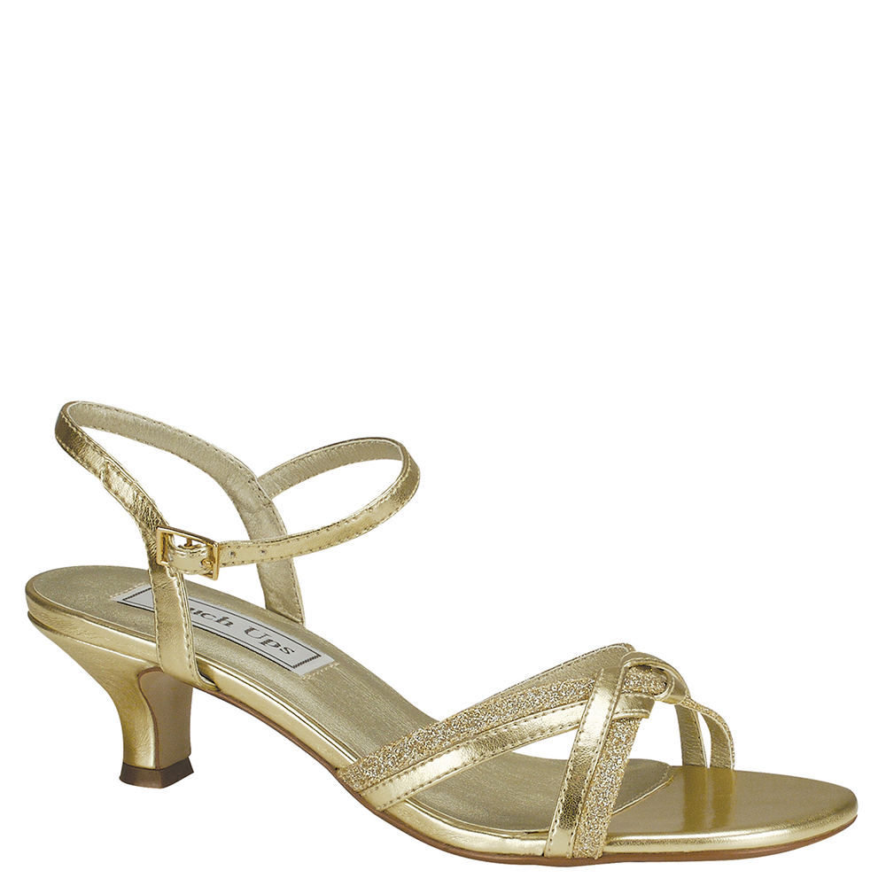 70s Shoes, Platforms, Boots, Heels | 1970s Shoes Touch Ups Melanie Womens Gold Sandal 12 M $49.95 AT vintagedancer.com