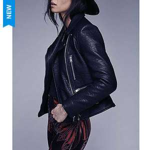 Free People Women's Soho Vegan Leather Jacket