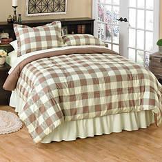Buffalo Check Comforter Set - Taupe