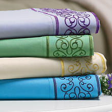 Gala Embroidered Sheet Set - Sage