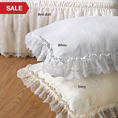 Wrap-Around Lace Bedskirt - Ivory