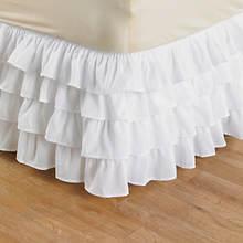 Ruffle Bedskirt - White