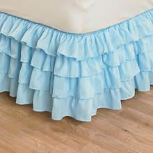 Ruffle Bedskirt - Blue